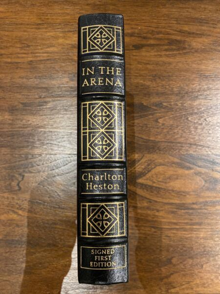 SIGNED Easton Press IN THE ARENA Charlton Heston First Edition $111.11