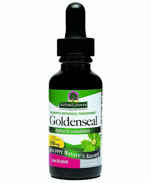 NATURE#x27;S ANSWER Goldenseal Root Organic Extract LOW ALCOHOL 1 OZ Exp 04 24