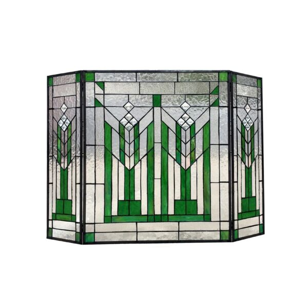 Stained Glass Fireplace Screen Mission Design Tffany Style Home Decor