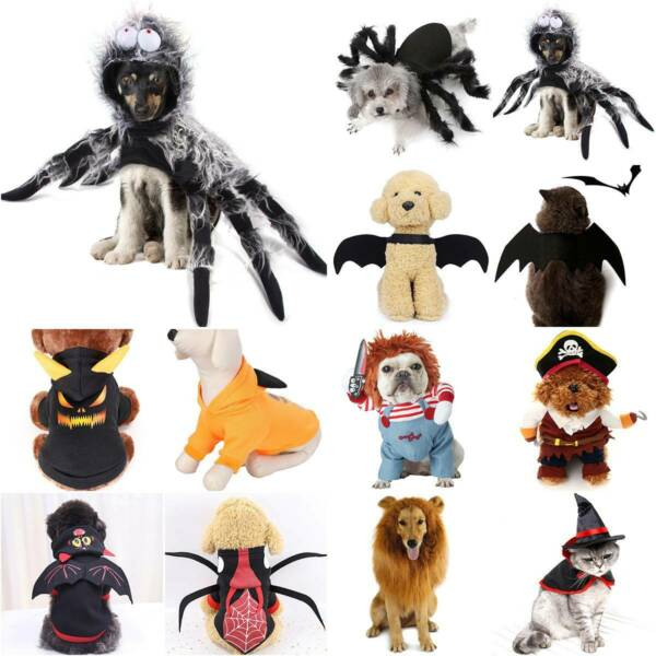 Lion Chucky Scary Dog Costumes Funny Pet Clothes Party Cosplay Clothing Gifts $9.68