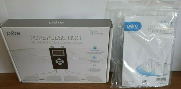 Pure Enrichment PurePulse Duo Electric Muscle Stimulator 5 Extra Pads New $49.95