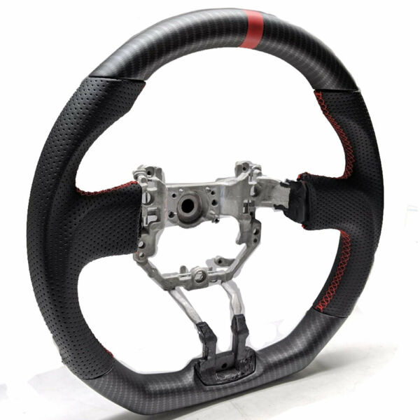 MATTE DRY HYDRO CARBON For FRS BRZ 86 FT86 Flat Bottom Steering Wheel Leather $249.99