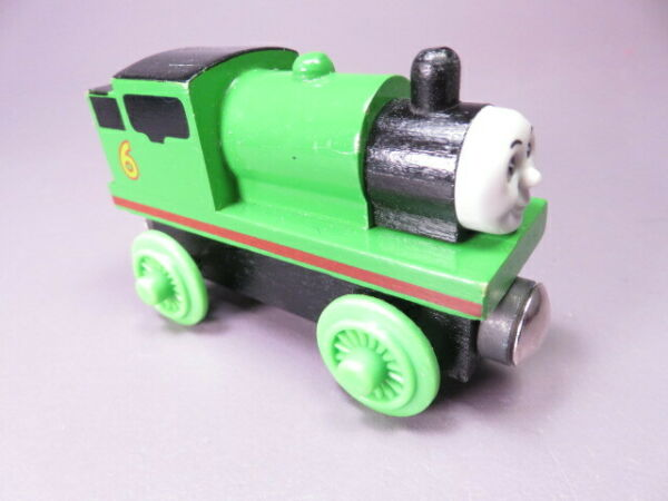 Vintage Thomas the Train Wooden PERCY 1997 from set thin wheels wood stack