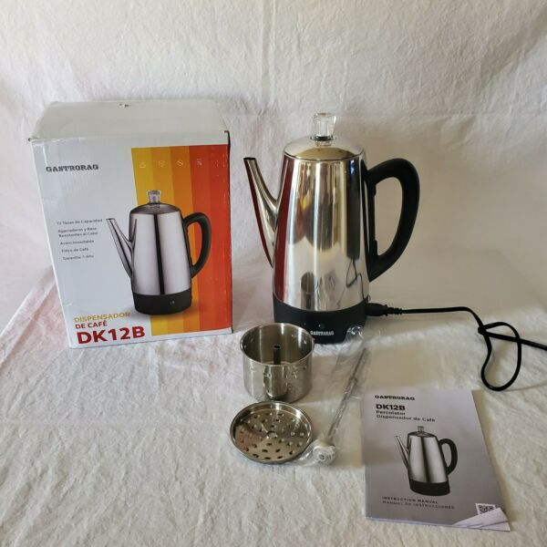Gastrorag 12 Cup Electric Coffee Percolator Stainless Steel