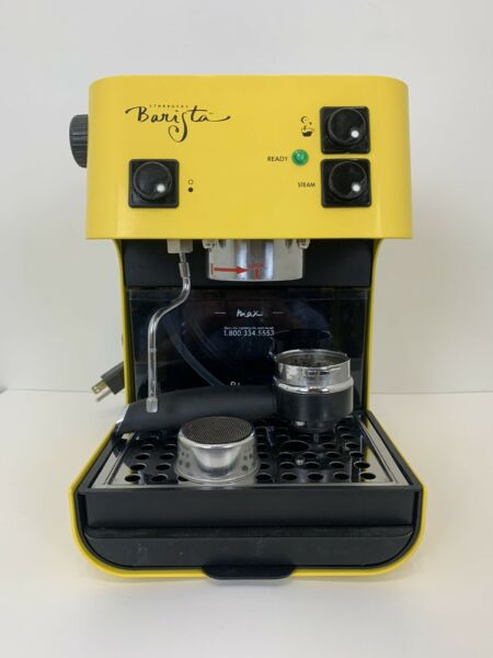 RARE Yellow Starbucks Barista Saeco Coffee Machine Works Great Cleaned Descaled