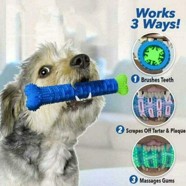 Chew Toy Dog Toothbrush Pet Molar Tooth Cleaning Brushing Puppy Stick SHIP C $7.00