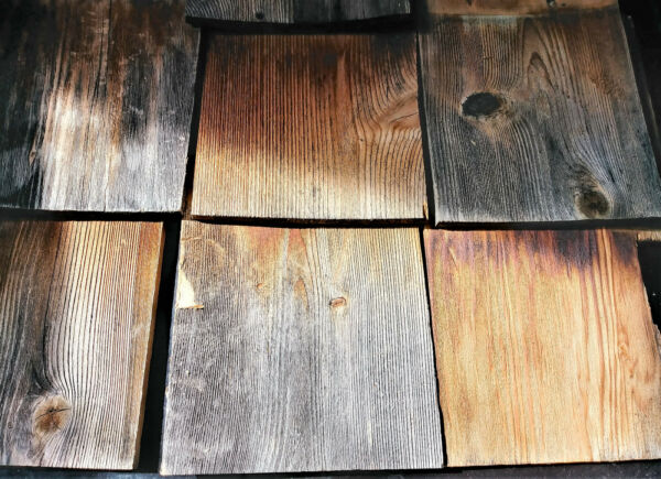7 pcs Antique Used Wood Cedar Roof Shingles Craft Projects BARN SLAVAGE Large $36.99