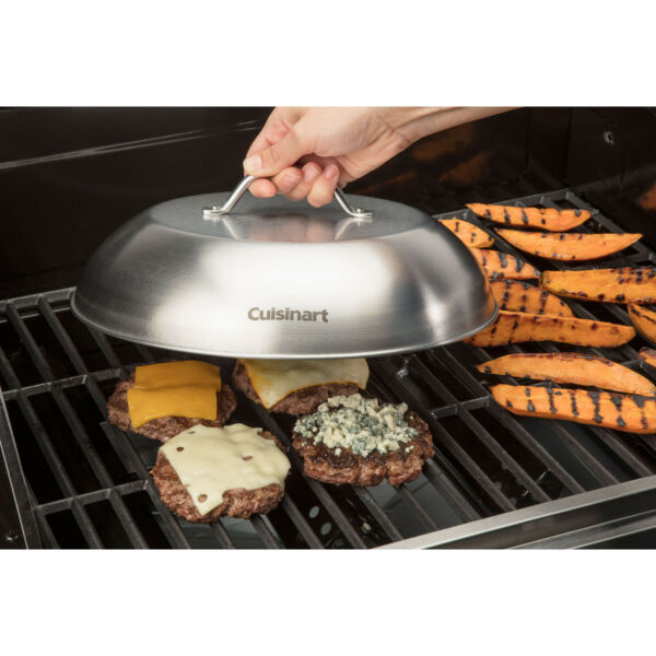 CUISINART Grill Melting Dome 12quot; D Stainless Steel Gourmet Outdoor Grilling