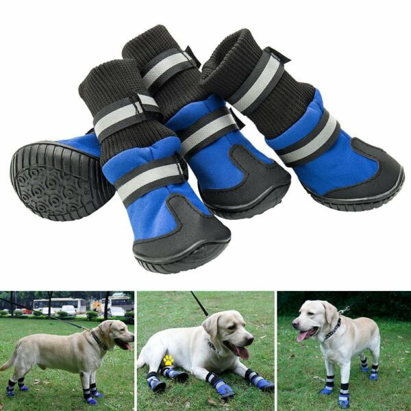 Waterproof Non slip Pet Dog Shoes Puppy Rain Boots Sock Feet Paw Protective S XL GBP 4.49