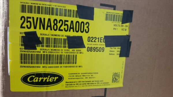 25VNA825A003 Carrier Infinity 2 Ton 18 SEER Residential 5 Stage Heat Pump $2200.00