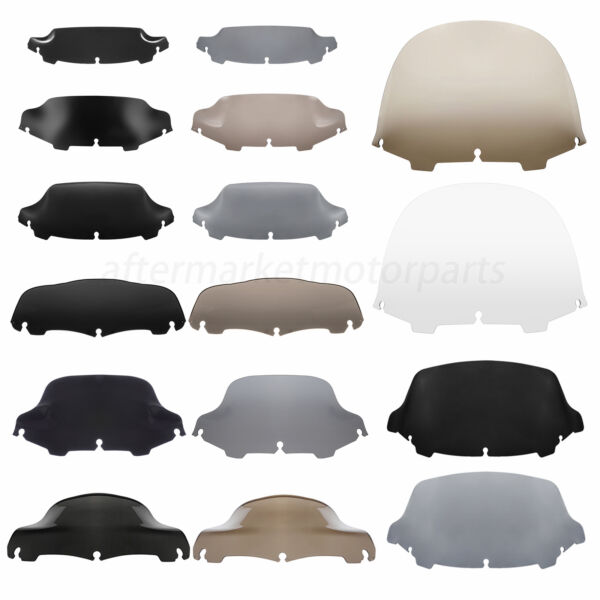 """4.5"""" 5"""" 6#x27;#x27; 7quot; 8#x27;#x27; 9quot; 10quot; 13"""" Wave Windshield Fit For Harley Street Glide FLHT"""