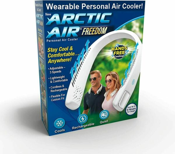 Arctic Air Freedom Personal Air Cooler amp; Purifier 3 Speed Light Weight Cordless $16.99