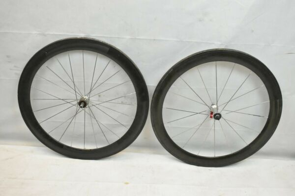 Carbon 700c Road Wheel Set Black OLW123 100 24 18S 14mm Touring Race PV Charity $738.81