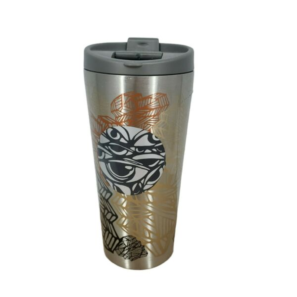 Starbucks Stainless Steel 2014 Coffee Cup Tumbler Geometric Abstract 16oz