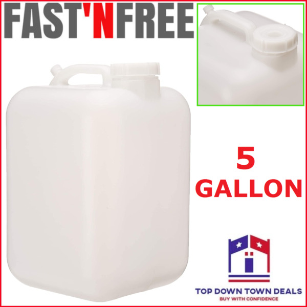 Emergency 5 Gallon Water Storage White Container Carrier Jug Camping Tornado $26.29