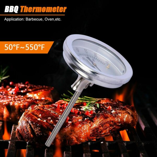 Barbecue Thermometer Gauge0 300℃ Stainless Steel BBQ Smoker Grill Temperature