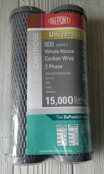 Dupont 800 Series 10quot; Whole House Carbon Wrap Water Filter 2 Pack $6.99