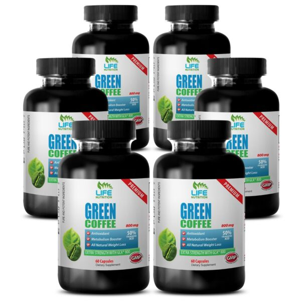 Green Coffee Beans Extract Green Coffee Extract GCA 800mg Belly Fat Burn 6B