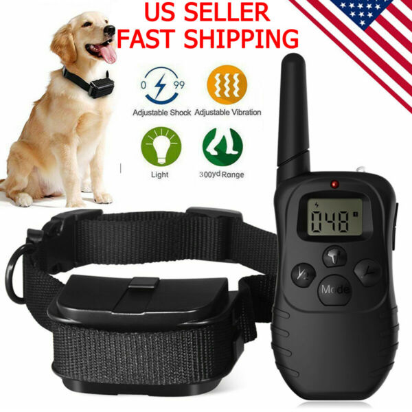 Dog Shock Collar With Remote Waterproof Electric for Large 328 Yard Pet Training $17.59