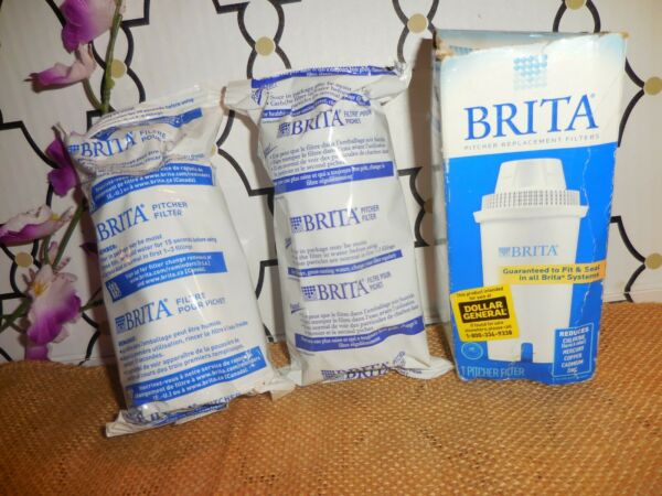 2 GENUINE BRITA WATER FILTERS SEALED DISTRESSED PACKAGE FAST SHIPPING