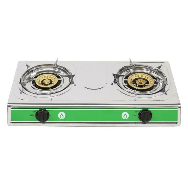 Zokop Outdoor Portable Propane Gas Stove 2 Burner Stand Camping 20000BTU BBQ