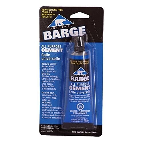 Barge All Purpose Cement 2 oz Tube Metal Leather Rubber Wood Glass Glue $8.45