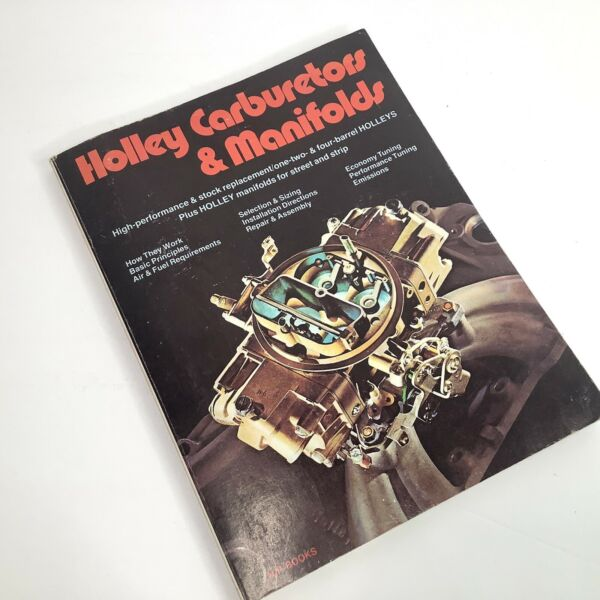 Vtg Holley Carburetors amp; Manifolds HP Books Rich amp; Fisher 76 with Store Receipt $11.31