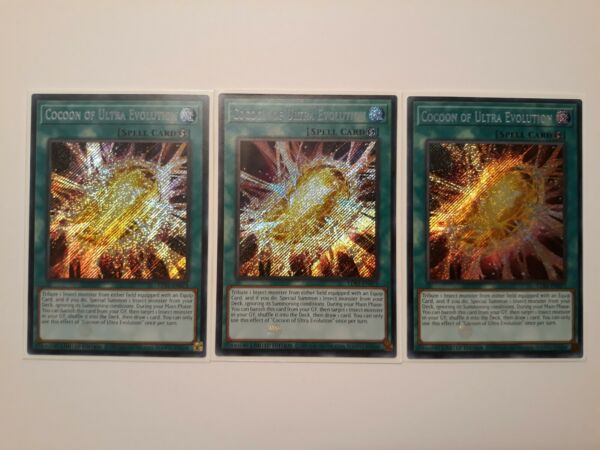 Yugioh 3x Cocoon of Ultra Evolution LDS1 Limited Edition Secret NM