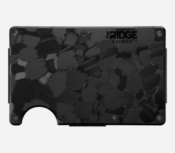 The Ridge Forged Carbon RFID Blocking Wallet With Cash Strap $74.99