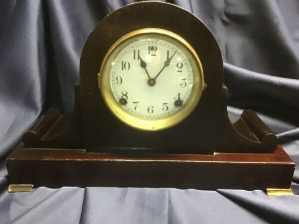 SESSIONS CLOCK 4951 8 DAY 1 2 HR STRIKE cathedral gong DAWSON antique EXCELLENT
