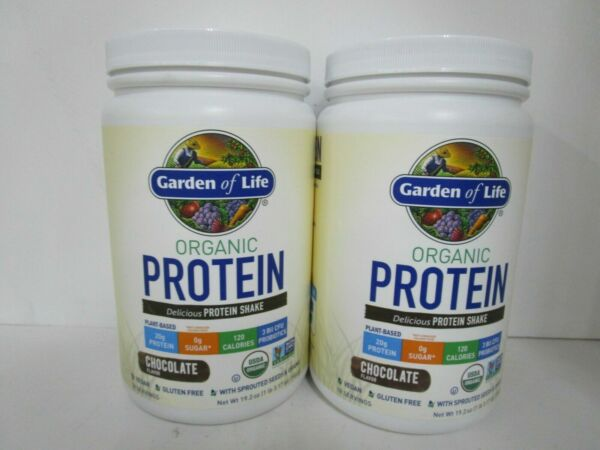2 Garden of Life Organic Protein Plant Based Chocolate 18 Serving 2 22 JL 13643 $22.99