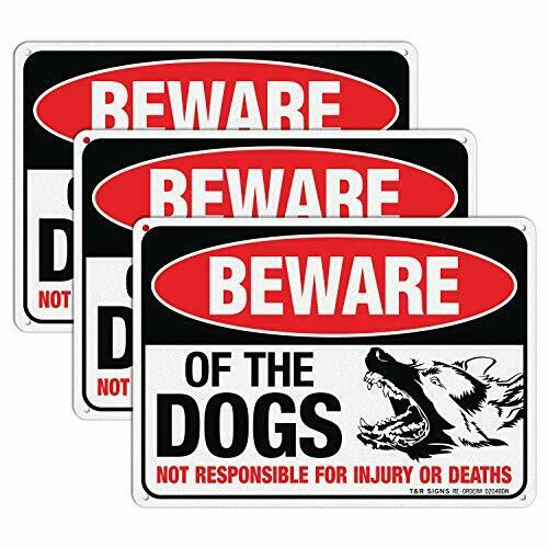 Beware of Dogs Sign 3 Pack German Shepherd Dog Warning Sign 10x7 Inch .040 Mil $16.28