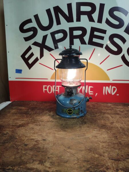 Blue Sears Coleman Model 476 74550 Lantern With Globe Dated 4 1962 Tested Works $249.99