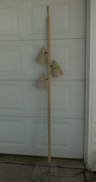 Vintage MCM Mid Century Pole Tension Lamp 3 Light Floor to Ceiling 6#x27; 6quot; $114.99