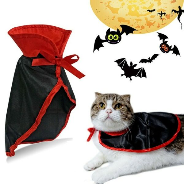 Vampire Dracula Cape Pets Dog Halloween Custome Cat Puppy Party Clothes Outfit $7.64