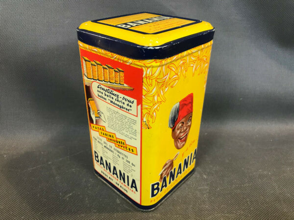 Antique Box Sucre Advertising Cocoa Banania Kitchen Vintage