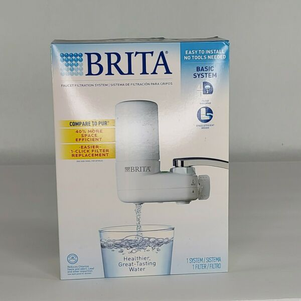 Brita Basic Faucet Mount Water Filtration System White OPEN BOX