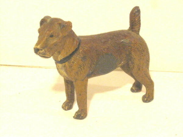 """Vintage Cast Metal Dog Made in Germany 3"""" Tall FREE SHIP. $16.95"""