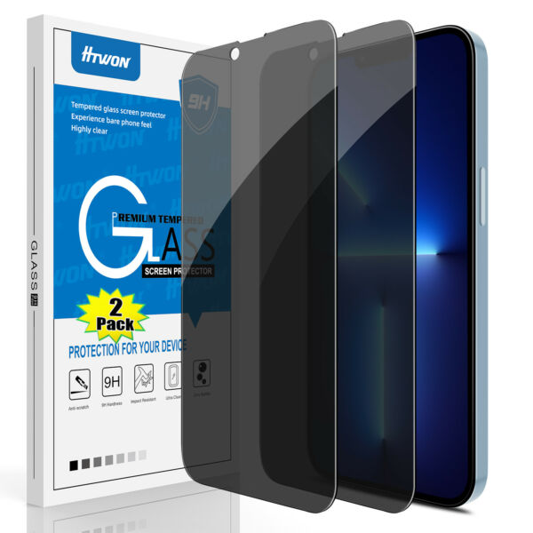 For iPhone 12 13 Pro Max Mini Privacy Anti Spy Tempered Glass Screen Protector