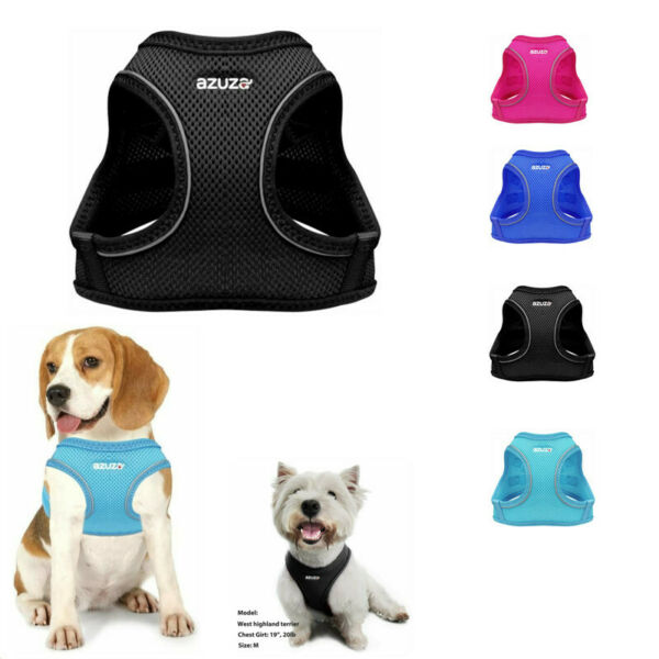 Dog Harness Pet Vest Reflective Soft Mesh Easy Control Walking All Weather $7.99