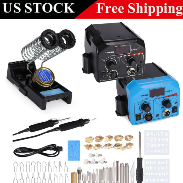 Wood Burner Pyrography Pen Burning Machine Gourd Crafts Tool Set w 20 Wire Tips $68.39