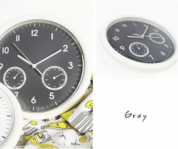 Wall Clock Indoor Large with Thermometer amp; Hygrometer Combo 10 in Numeral Round $21.59