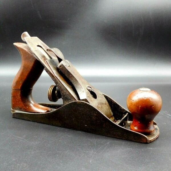 VINTAGE Wood Working PLANE 9 X 2 INCHES Unmarked Made In USA Smooth