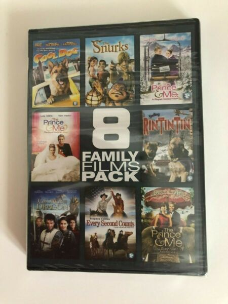 8 Family Films Pack NEW DVD Prince amp; Me COOL DOG George amp; Dragon SNURKS $9.99