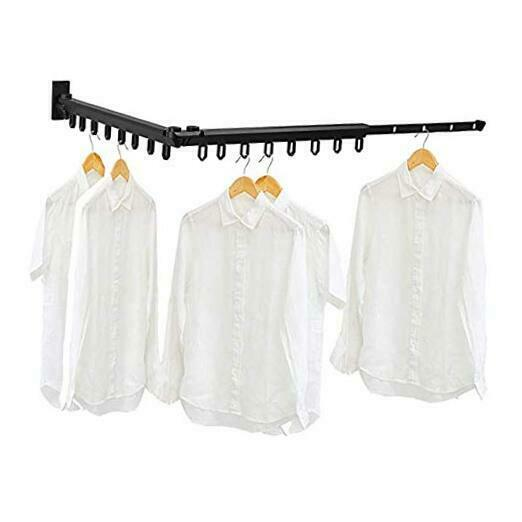Collapsible and Retractable Wall Mounted Clothes Drying Rack Clothes Drying $74.24