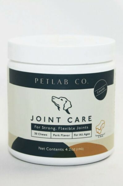PETLAB Co. Joint Care Dogs Strong Flexible Joints Support 30 Chews Pork Flavor $22.75