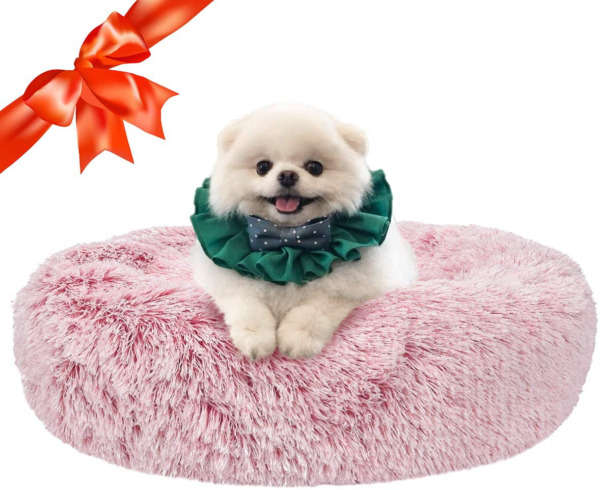 SHU UFANRO Dog Beds for Large Medium Small Dogs Round Cat Cushion Bed Calming $27.03