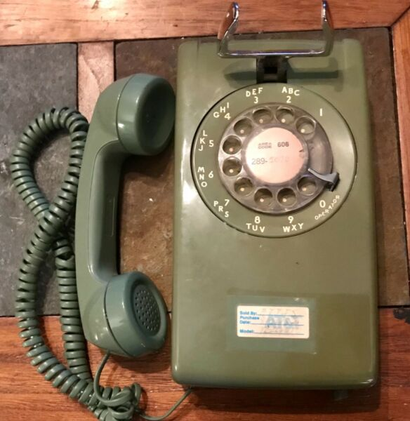 Vintage #228 Green Wall Phone South Central Bell Parts Or Repair $35.00