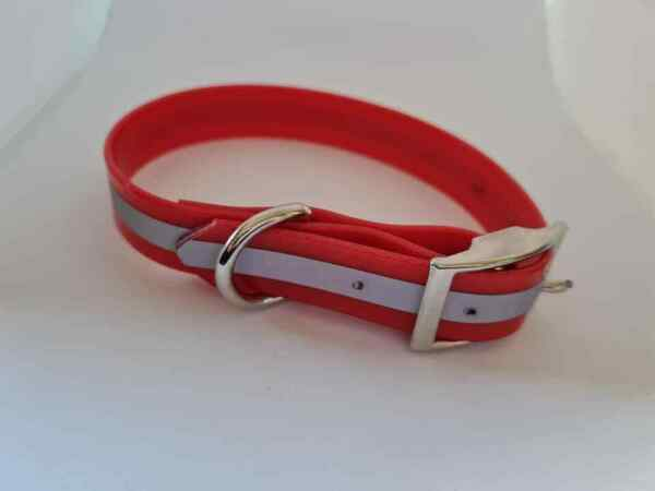 Red reflective pvc dog collar small size AU $15.95