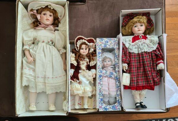 PORCELAIN DOLLS Collectible Handcrafted Dolls named NORMA NOELLE CASEY and...